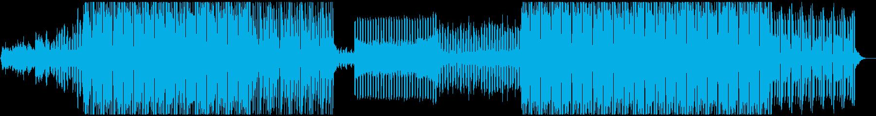 キラキラ透明感エレクトロハウスの再生済みの波形