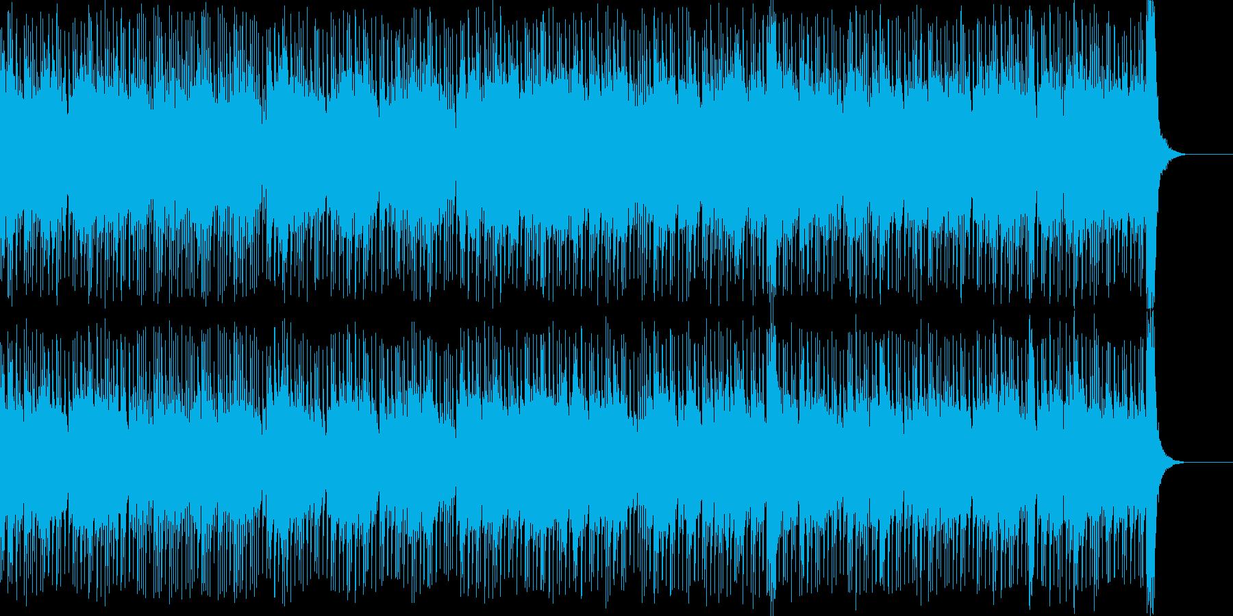 ゲームOPや日常シーンを想定した明るい曲の再生済みの波形