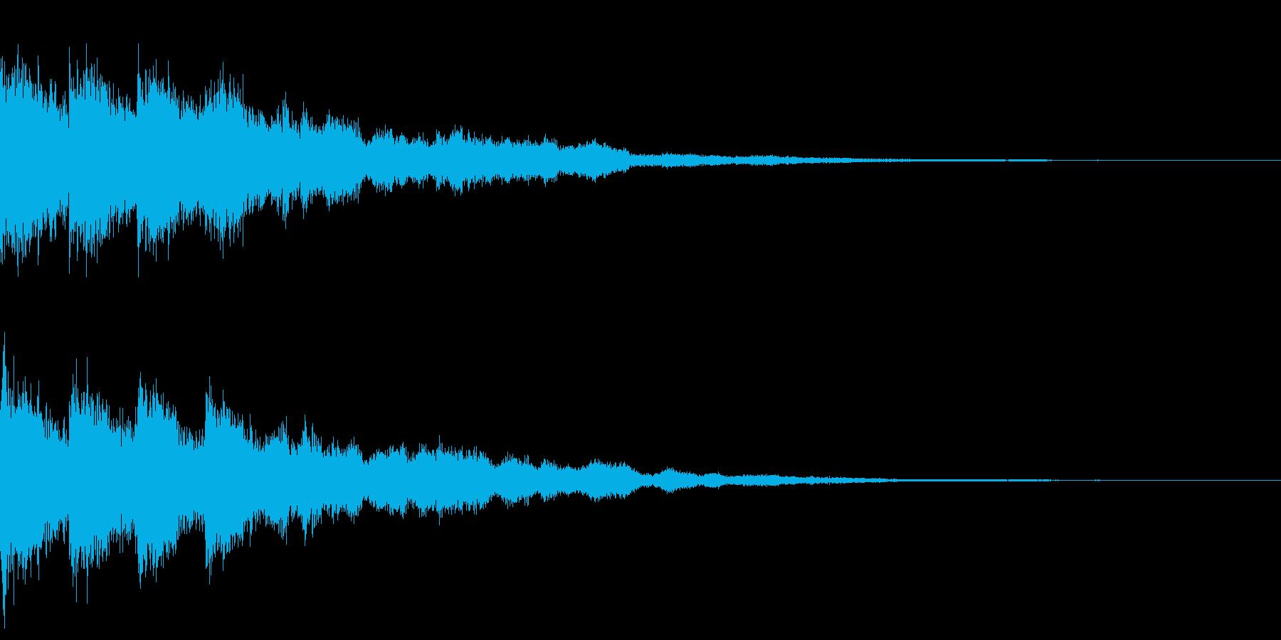 カットイン 魔法 クリティカル 決定の再生済みの波形