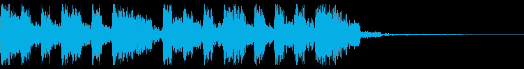 レトロゲーム風 場面転換 ジングルの再生済みの波形
