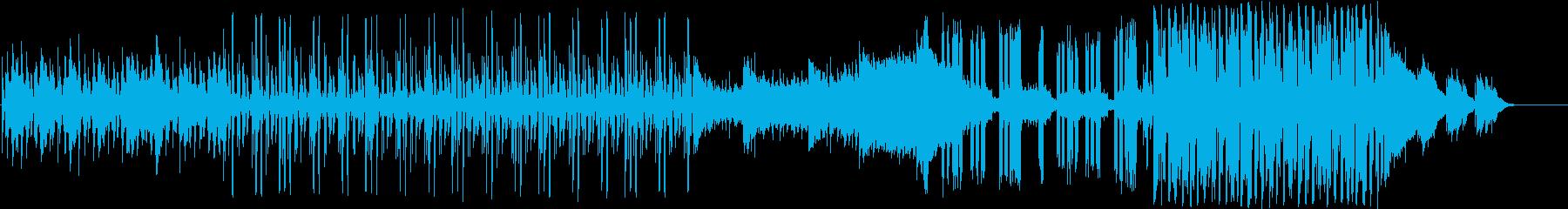 和風テイストのテクノトラックの再生済みの波形