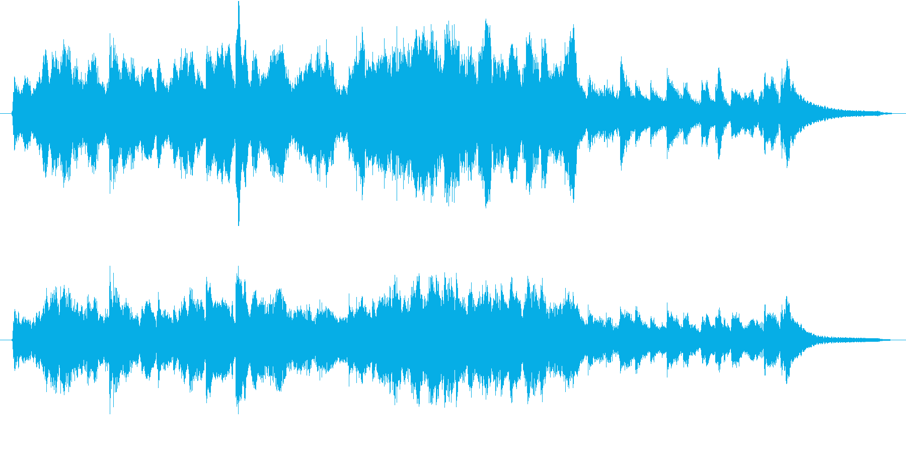 きらきらのオーケストラの再生済みの波形