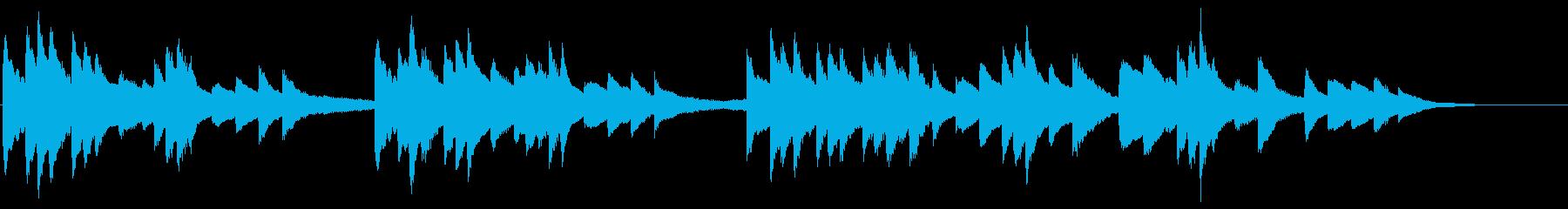 日本の夏に合うピアノの再生済みの波形