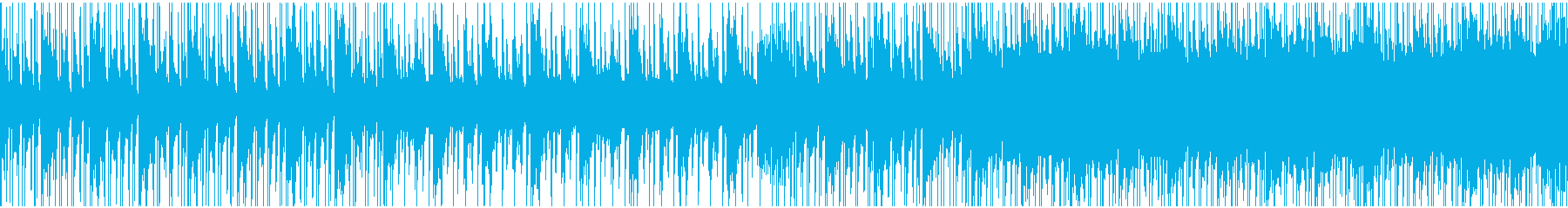 スウィング調のクリスマスのようなBGMの再生済みの波形