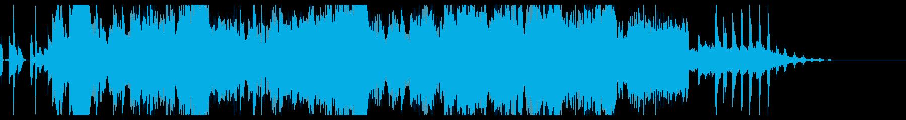 ファンクなグルーヴのボイス付きジングルの再生済みの波形