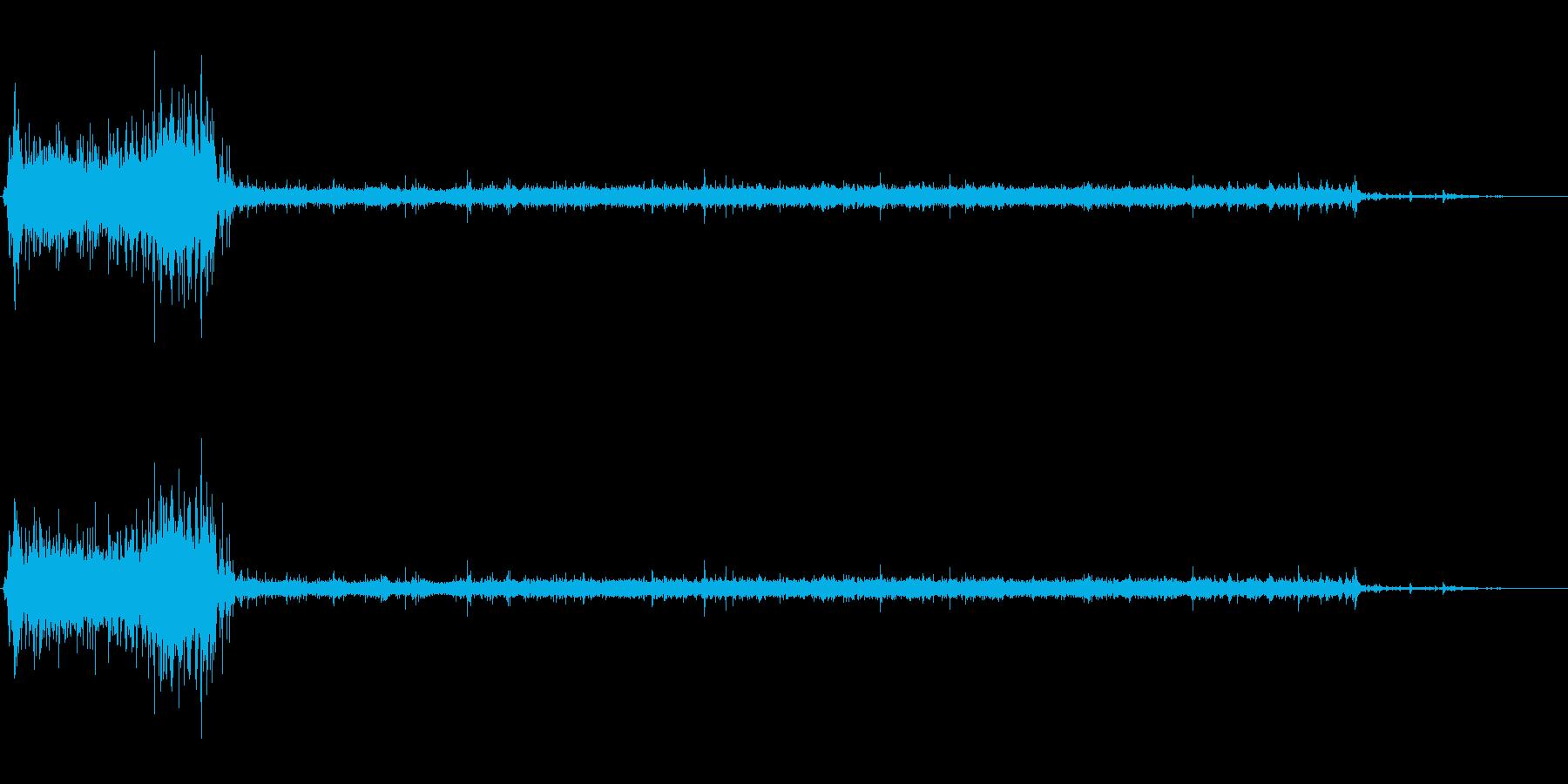 [生録音]水洗トイレを流す02の再生済みの波形