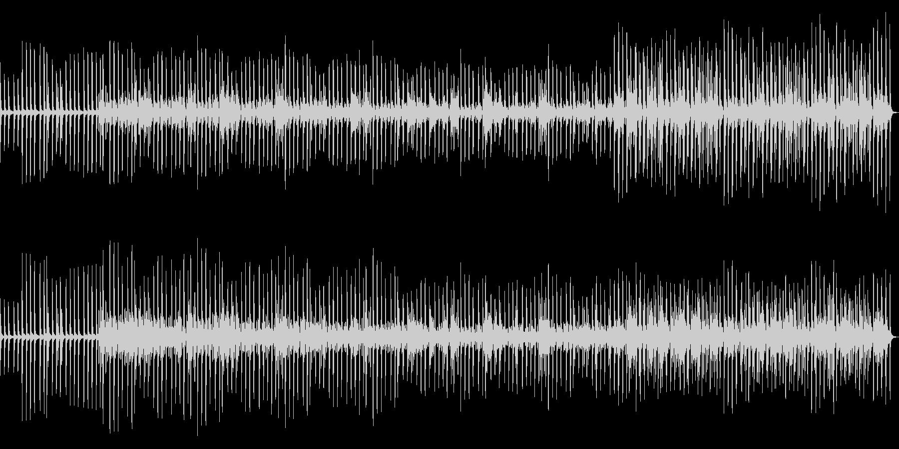 ピアノ音粒が増していく_雑踏_機械的の未再生の波形
