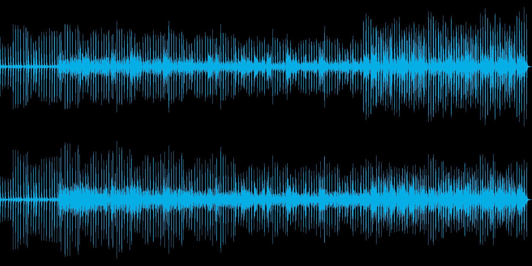 ピアノ音粒が増していく_雑踏_機械的の再生済みの波形