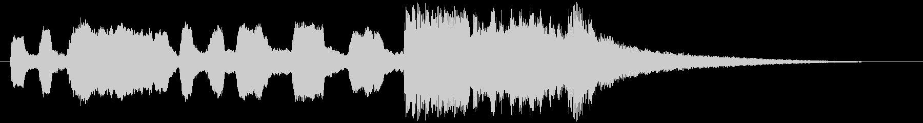 トランペットのシンプルなファンファーレの未再生の波形