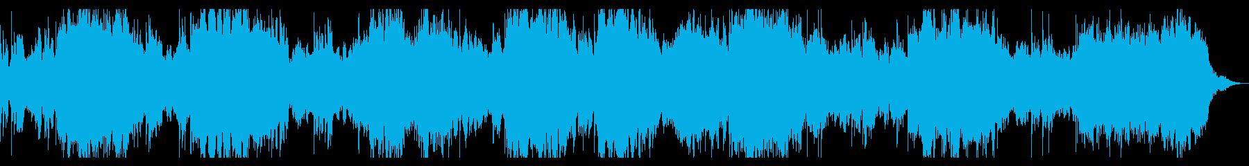 ベース入りミステリアス、ダークなBGMの再生済みの波形