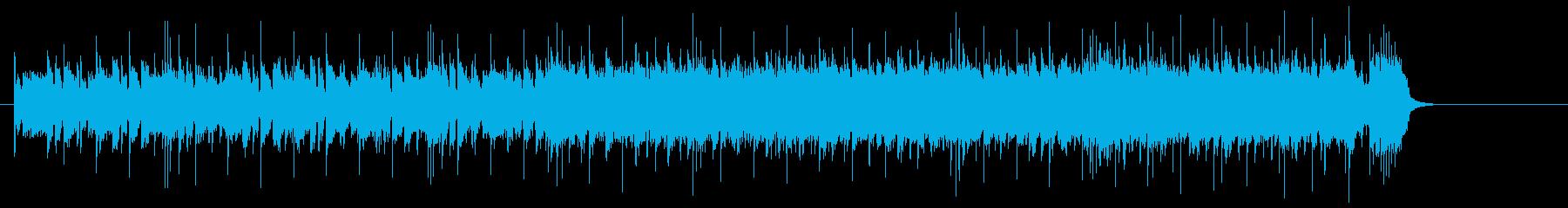 エネルギッシュなシャッフルのギターロックの再生済みの波形