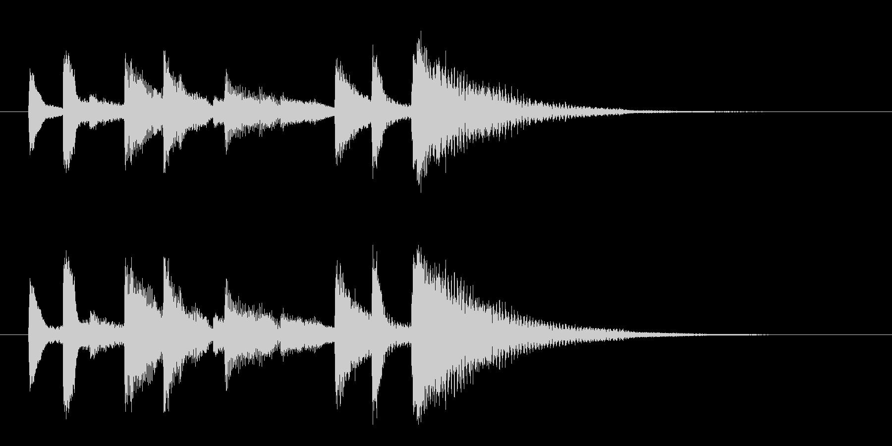 ポンポロン・・(怪しく不吉なピアノ)の未再生の波形