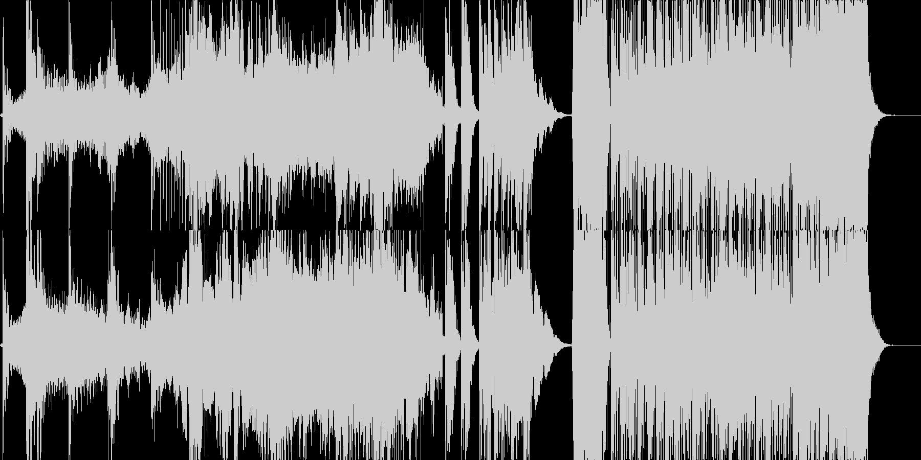 途中展開ありホラーBGMの未再生の波形