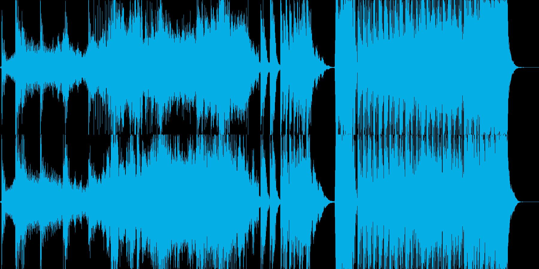 途中展開ありホラーBGMの再生済みの波形