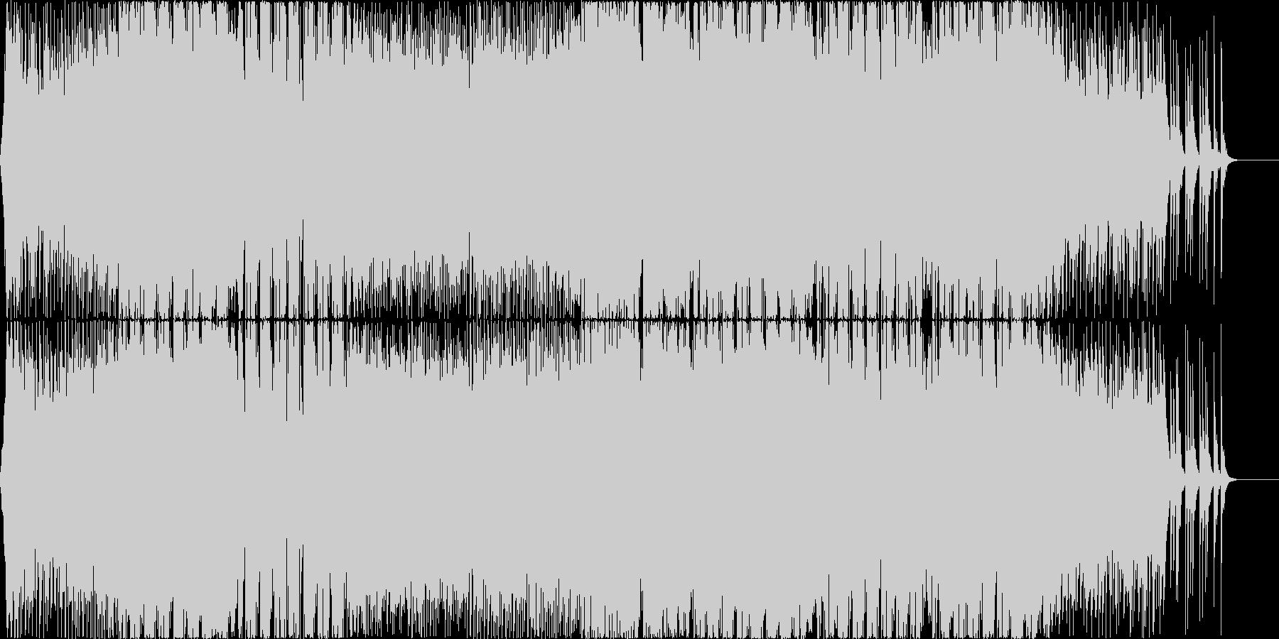 疾走感のあるポップでキャッチーなEDMの未再生の波形