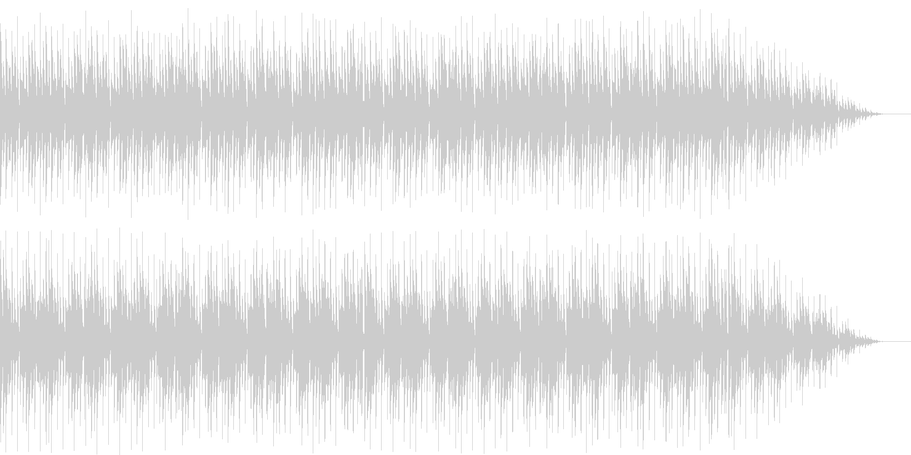 コミカルなキャラ チップチューン風の未再生の波形