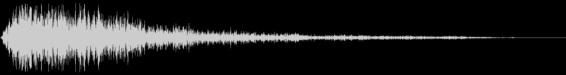 バイブレーションスマックストップの未再生の波形
