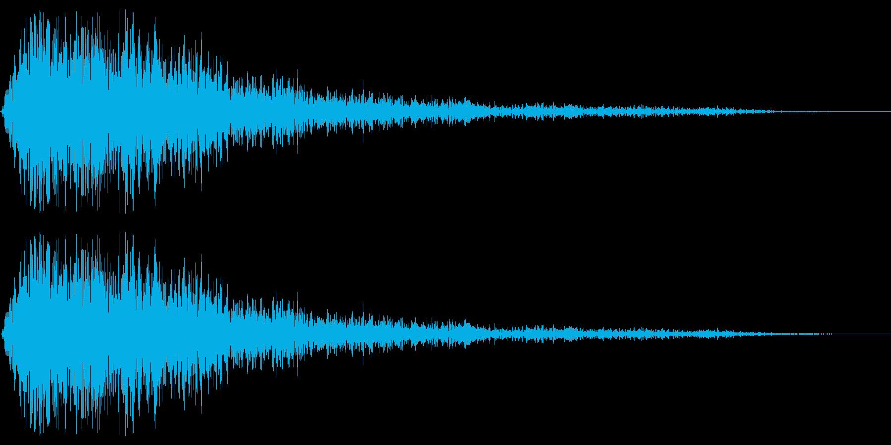 バイブレーションスマックストップの再生済みの波形