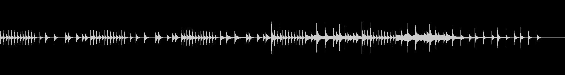 スローテンポベース抜きの未再生の波形