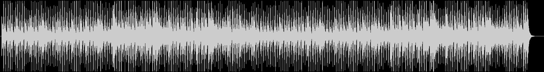 軽快で可愛い雰囲気のピアノ主体のポップスの未再生の波形