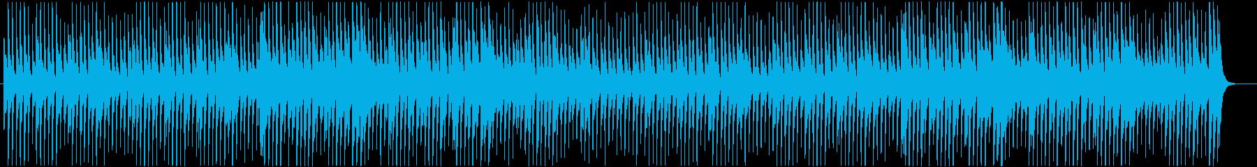 軽快で可愛い雰囲気のピアノ主体のポップスの再生済みの波形