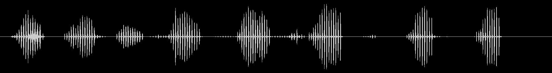 赤ちゃんアヒルの小グループ:チャタリングの未再生の波形