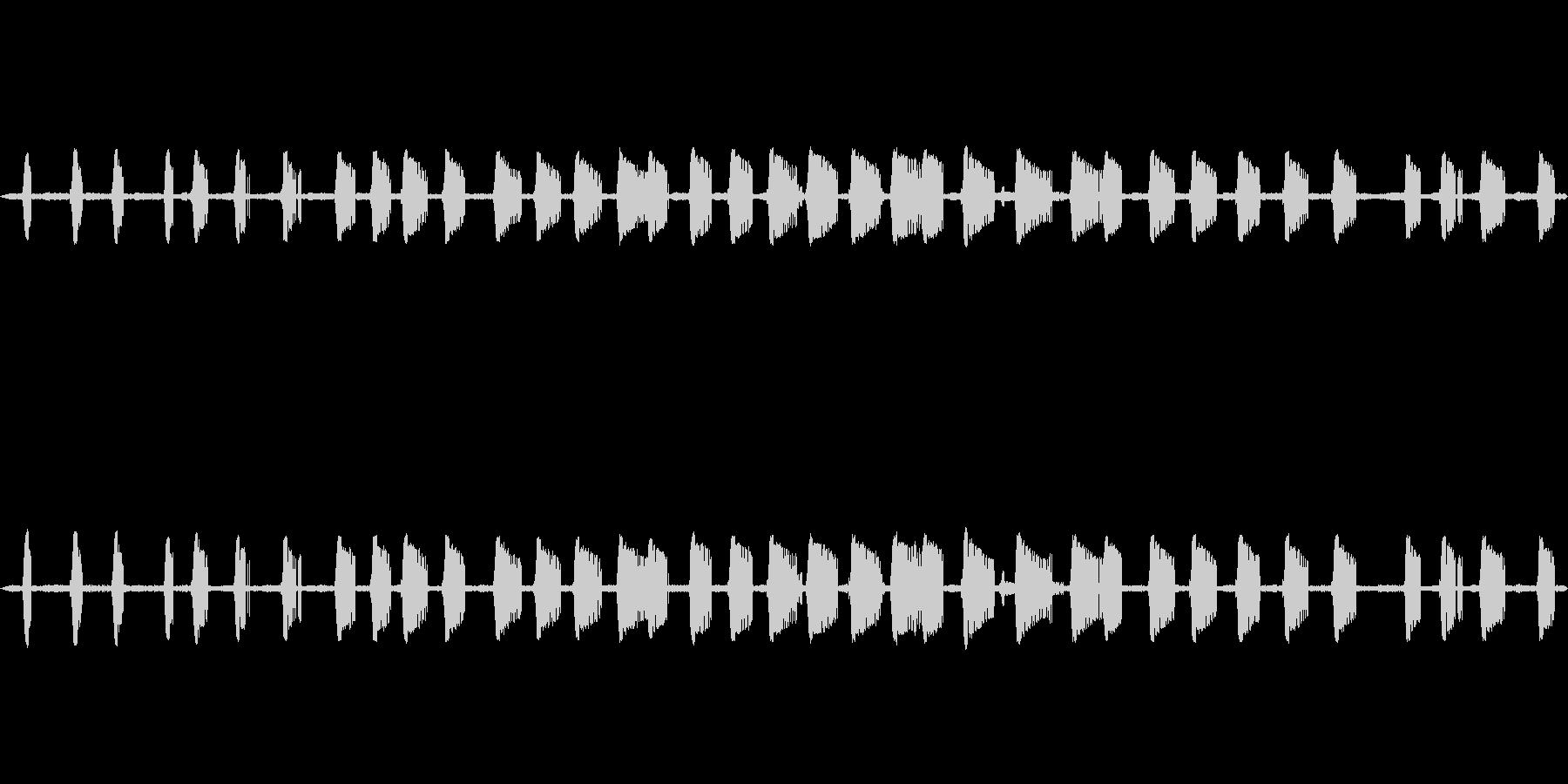 【初秋】コオロギの鳴き声 生音の未再生の波形
