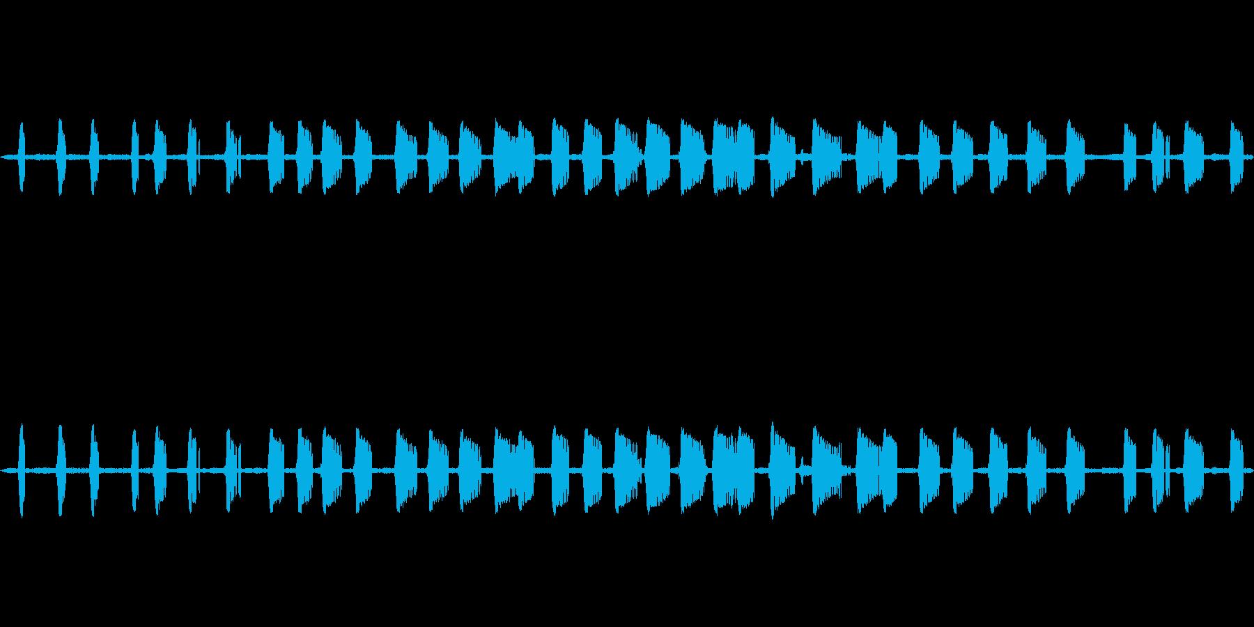 【初秋】コオロギの鳴き声 生音の再生済みの波形