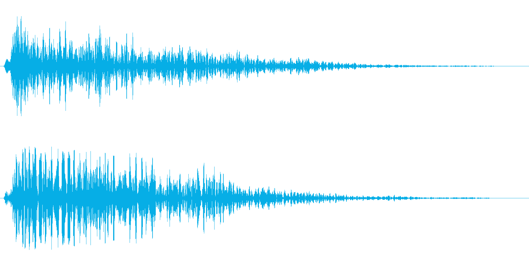プーン(深刻な場面での心の動きの効果音)の再生済みの波形