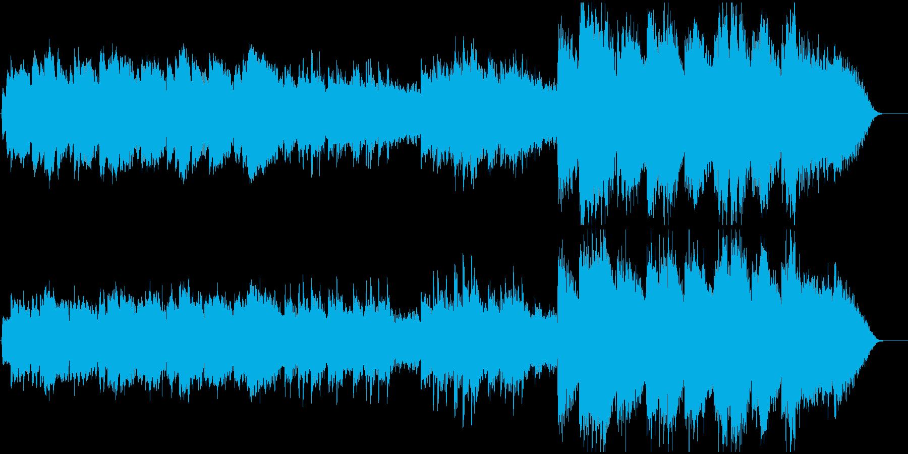 ノスタルジックで感動的なBGMの再生済みの波形