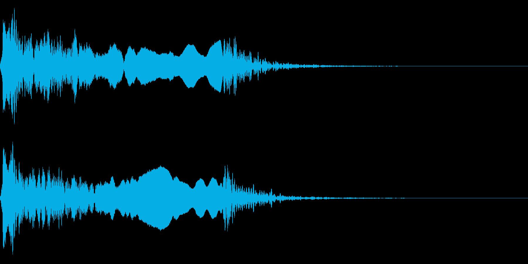 和風な歌舞伎の笛(能管)効果音です♪03の再生済みの波形