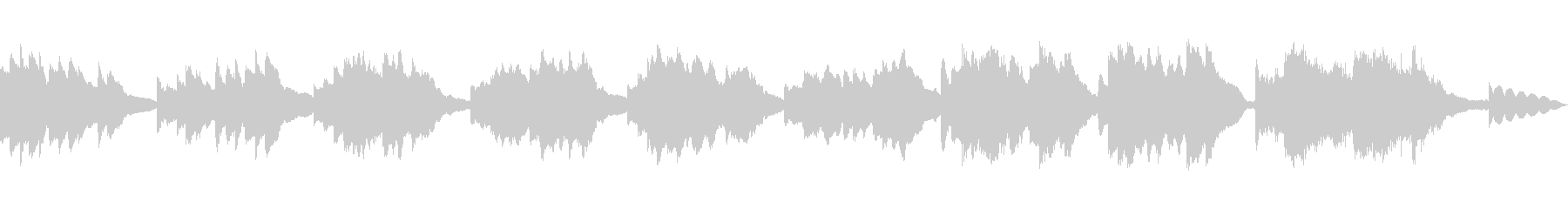 ソフトで優雅なピアノオスチナートの未再生の波形