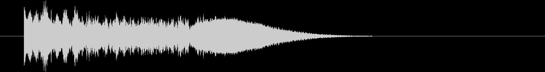 効果音|キーン+残響の未再生の波形