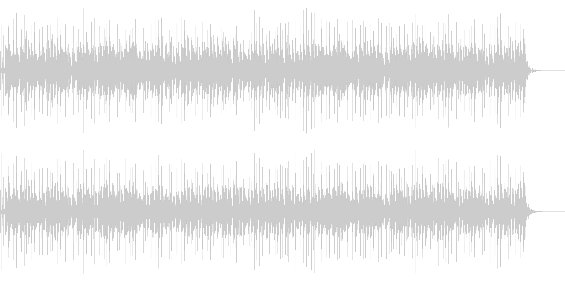 アコギとベルのふんわり穏やかなBGMの未再生の波形
