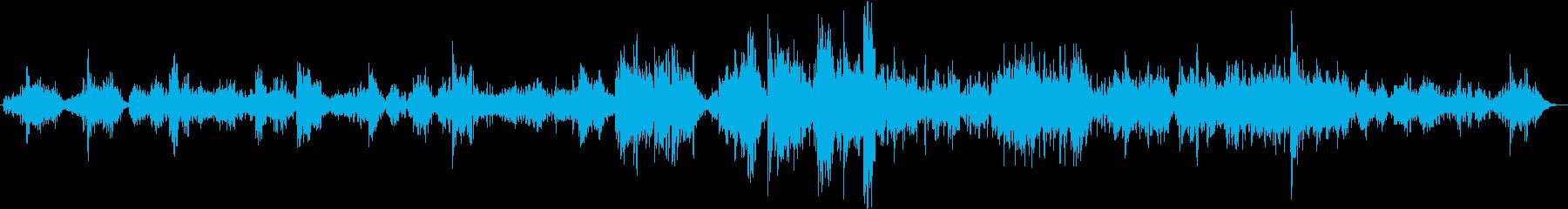 日本的なメロデーのバラードの再生済みの波形