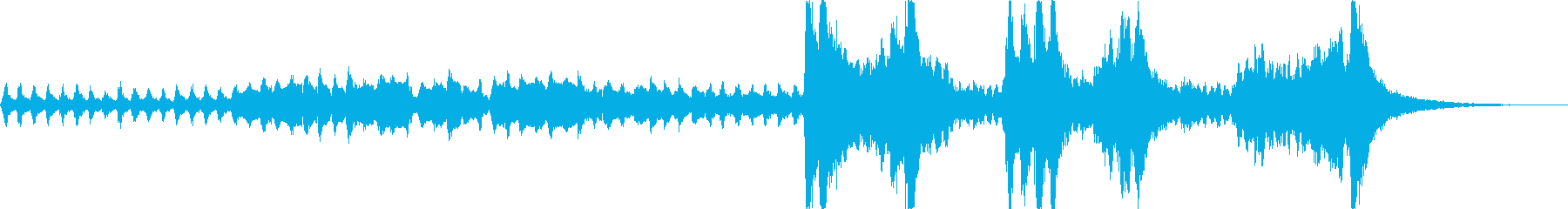 サスペンス映画の緊迫のシーンオーケストラの再生済みの波形