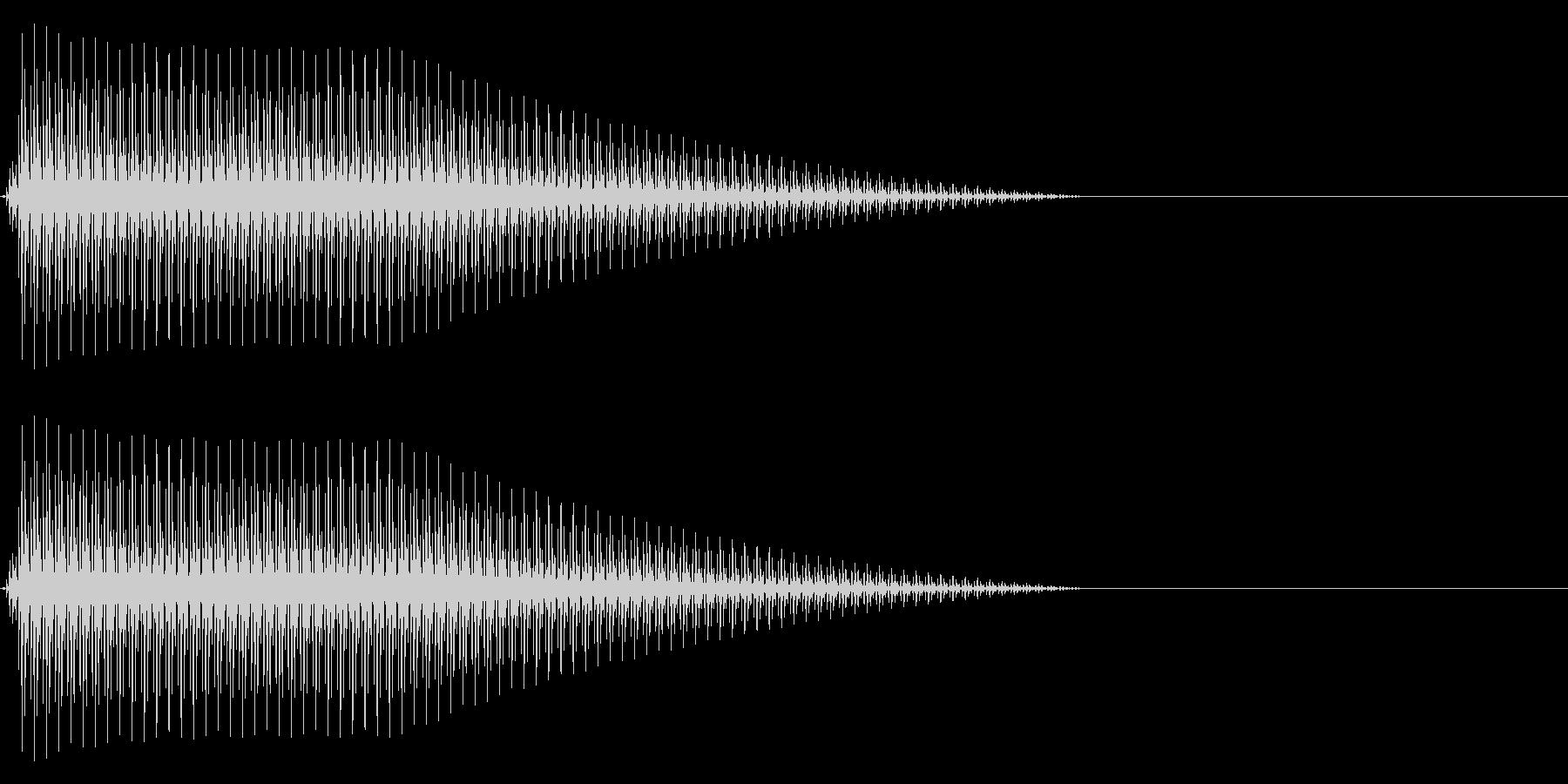 OctaveCom アプリ用タッチ音8の未再生の波形
