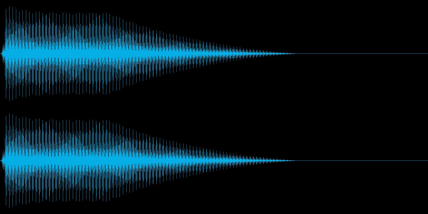OctaveCom アプリ用タッチ音8の再生済みの波形