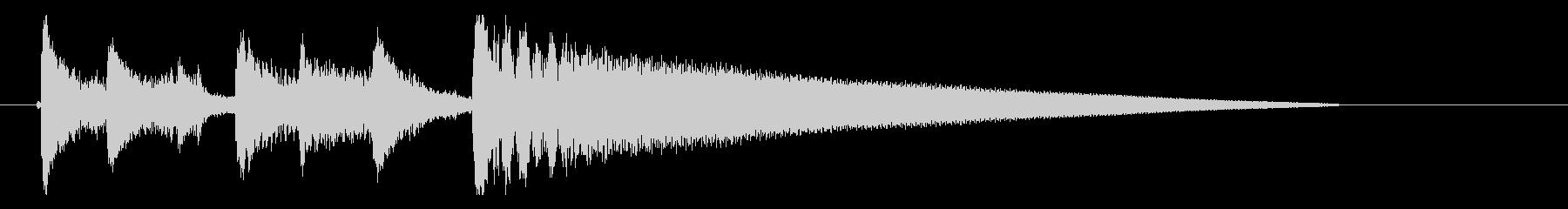 アコギ・ピアノのシンプルなジングルの未再生の波形