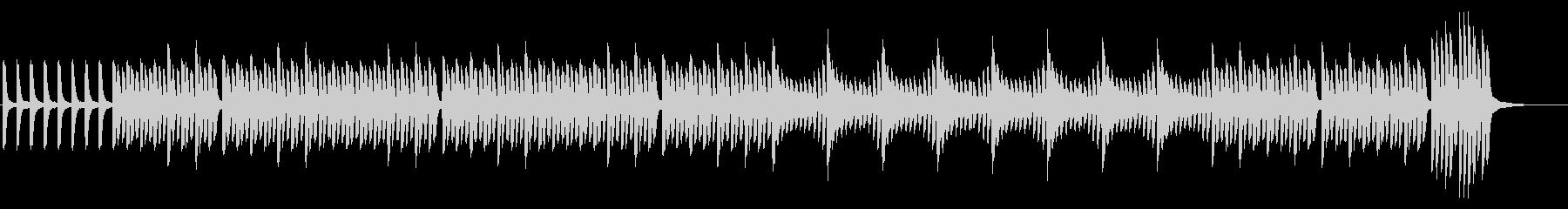 【ピアノのみ】力強くアカデミックな雰囲気の未再生の波形