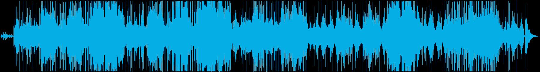 ピアノのヒット、バグパイプ、フルー...の再生済みの波形