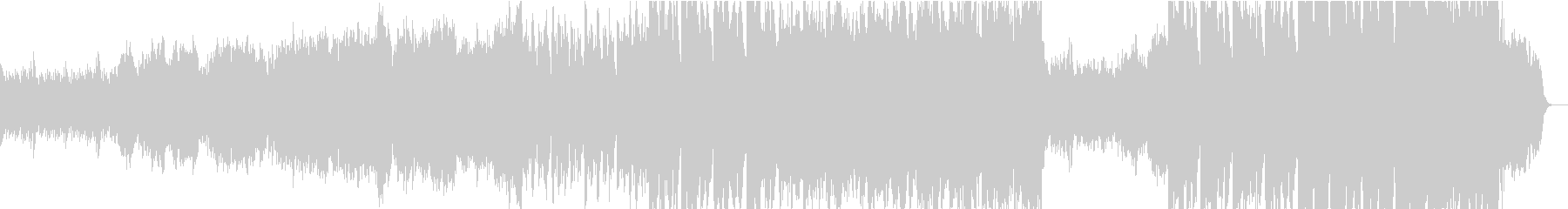 静かなピアノ~壮大なオケ②打楽器なし版の未再生の波形
