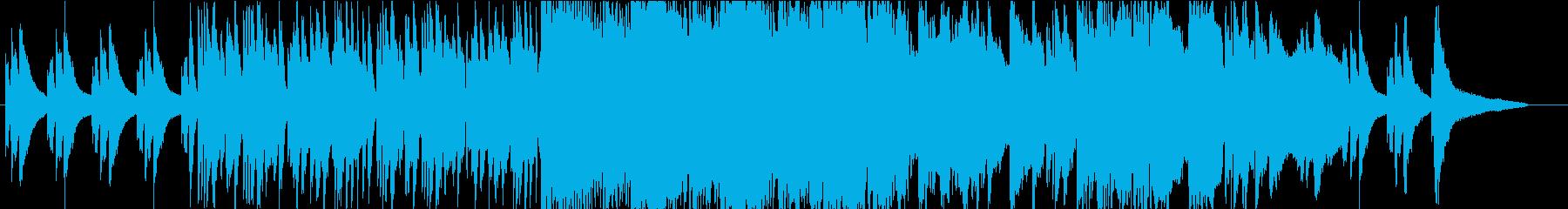 ピアノとサックスのドラマチックなBGMの再生済みの波形