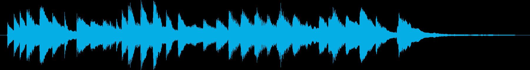 ピュアラブをイメージしたピアノのジングルの再生済みの波形