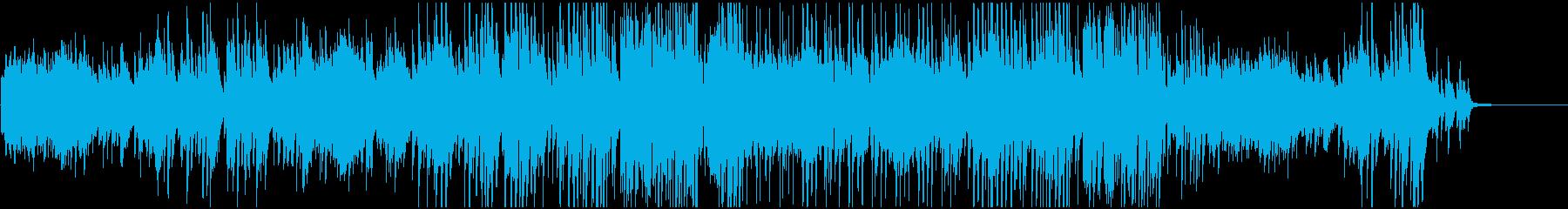 感動映像のためのジャズピアノトリオの再生済みの波形