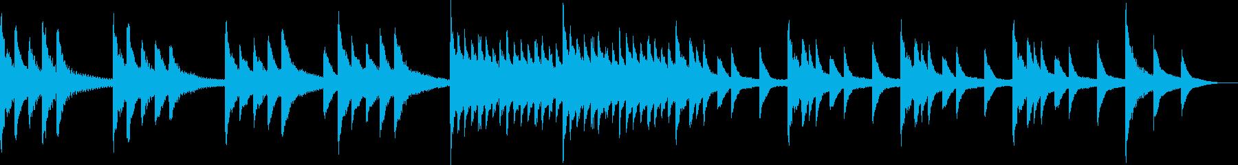 ホラー・恐ろしげなピアノの再生済みの波形