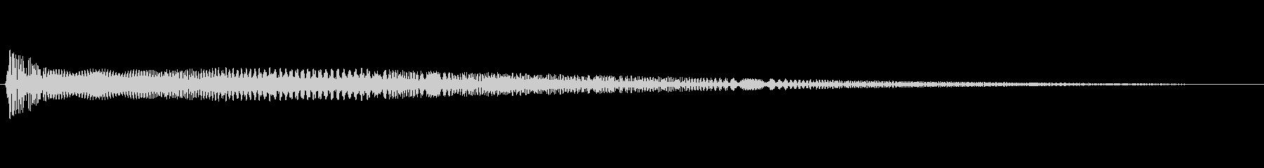 アプリやゲームの決定音の未再生の波形