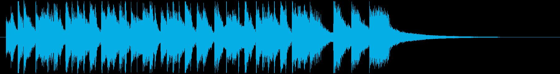 ノリノリのサルサ調サウンドロゴの再生済みの波形