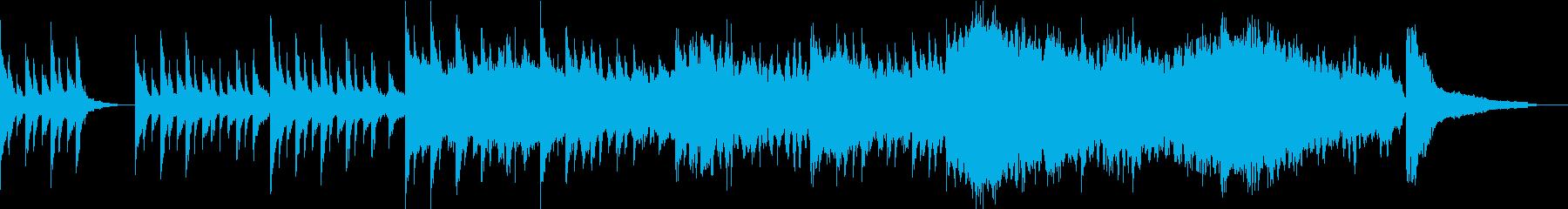 感動・透明感の映像 CMなどに/ピアノの再生済みの波形