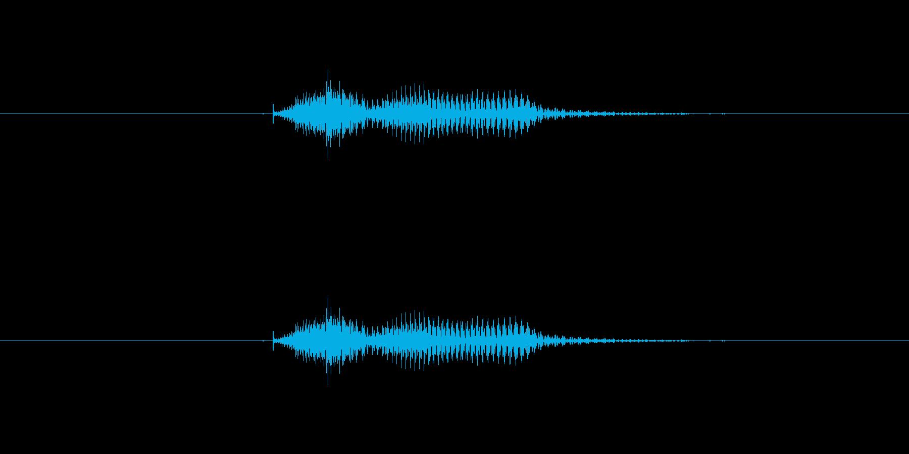 【数字】10(じゅう)の再生済みの波形